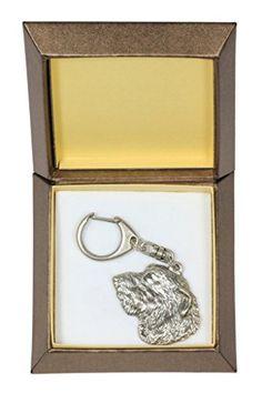 NEW, Irish Wolfhound, dog keyring, key holder, in casket, limited edition…