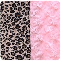 Pink Curly with Cheetah Snuggle Pup Dog Bed