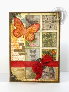 Annette's Creative Journey: Compendium of Curiosities Challenge - Smudge Stamping