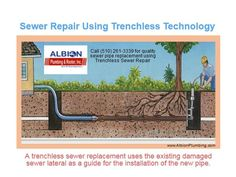 Most cost-effective method of replacing a damage, sewer pipe: Trenchless Sewer Repair. Why? Ask our sewer repair experts, call us at (510) 261-3339 for all of your sewer repair needs wherever you are in Oakland or San Francisco or even in Lafayette, CA. For more details please visit http://www.albionplumbing.com.