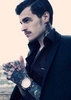 tattoo and jacket