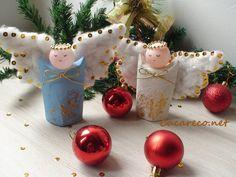 Artesanato, anjo de Natal com material reciclado