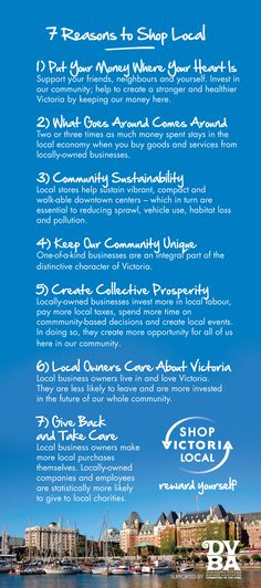 7 Reasons to Shop Local from Victoria, BC, Canada