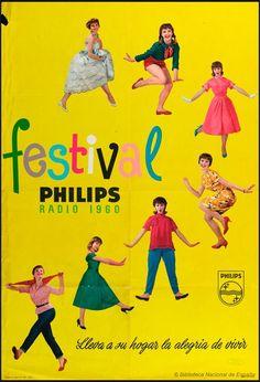 Festival Philips radio 1960 : lleva a su hogar la alegría de vivir  Madrid, 1960