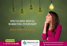 Specialised Digital Marketing Internship for Digital MOMs & HOUSEWIVES in ahmedabad by kaushalam
