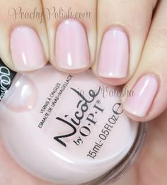 """""""Love My Pups"""" is a pale, pale pink sheer. 3 coats. Nicole by OPI: Carrie Underwood Collection Swatches and Review"""