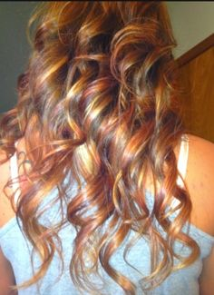 Brown Red Blonde Ombre Hair