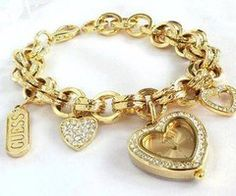 Gold Tone Leopard Print Charm Bracelet Guess Esories Pinterest Bracelets Bangle And Jewelry