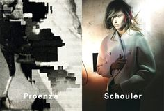 Campañas publicitarias moda otoño invierno 2013 2014 - Sasha Pivovarova - Proenza Schouler - David Sims