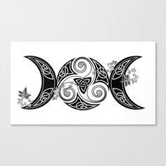 Goddess Tattoo, Goddess Art, Simbolos Tattoo, Body Art Tattoos, Triple Moon Goddess, Witch Tattoo, Wiccan Tattoos, Celtic Art, Tattoo Ideas