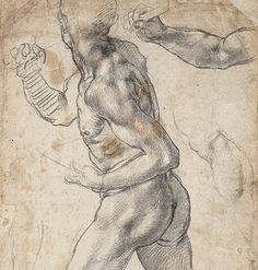 Michaelangelo - Drawing - The Resurrection of Christ - c. 1532-3