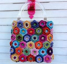 Crochet Flower Bag   Flickr - Photo Sharing!