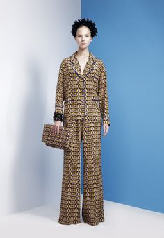 """LUBLU Kira Plastinina """"Tropical coffee print daytime pajamas."""""""