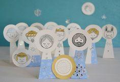 La crèche de Noël en papier -  Paper Christmas crib