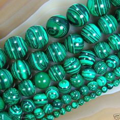 6-12mm Green Malachite Gemstone Round Loose Spacer Beads 15