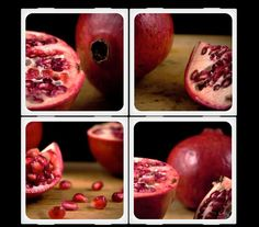 Pomegranate  Ceramic Coaster Set by HouseofSixCats on Etsy, $20.00