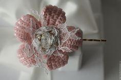 """Купить Заколка """"fleur de corail"""" - коралловый, заколка для волос, цветы в украшении"""
