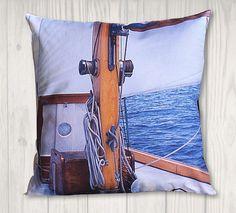 Nautical Pillow Cover of Sailboat rigging - Coastal Decor - x Nautical Pillow Covers, Nautical Pillows, Dragon Tales, Free Studio, Joann Fabrics, Coastal Decor, Sailboat, Craft Stores, Pillow Inserts