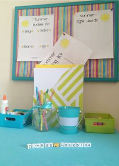 """How to create a """"Summer Learning Station"""" for your child"""