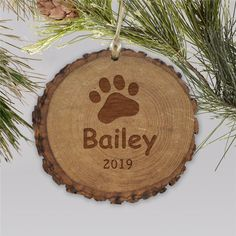 Don't forget that your pet needs their own ornament to hang on the tree this year! Create engraved paw print rustic wood Personalized Pet Ornaments for each of your furry family members. Dog Christmas Ornaments, Wooden Ornaments, Christmas Dog, Word Art Design, Wood Print, Rustic Wood, Laser Engraving, Don't Forget, Madness