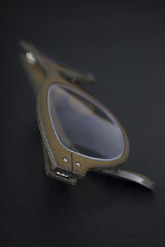 Lucas de Staël / Minotaure Full Rim / Genuine cow leather / Handmade eyewear in Paris.  http://www.lucasdestael.com/minotaure-full-rim