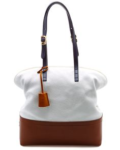 "FENDI ""2bag"" Bi-Color Leather Tote"