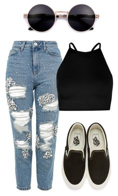"""""""Untitled #2"""" by abbeystuglin on Polyvore featuring Topshop, Boohoo and Vans"""
