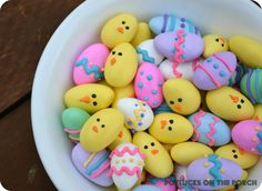 Potlucks on the Porch: Jordan Almond Easter Eggs & Chicks