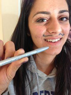 using Saphir metallic kohl pencil Movember, Moustache, Anna, Metallic, Pencil, Beauty, Mustache, Moustaches, Beauty Illustration