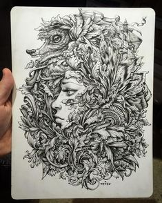 """One of the items available in the PURGE sale is the original inks for last year's """"Herald of Antiquity"""" screenprint.  Ink on Strathmore Bristol paper. 9"""" x 12"""" ncwinters.bigcartel.com by ncwintersart"""