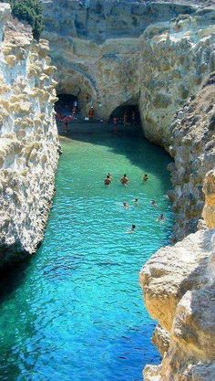 The small beach and cave of Papafragas in Milos