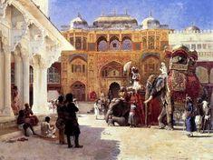 The Maharajah at the Amer Fort, 1888 Edwin Lord Weeks - http://hoocher.com/Edwin_Lord_Weeks/Edwin_Lord_Weeks.htm The Rajah At The Palace Of Amber