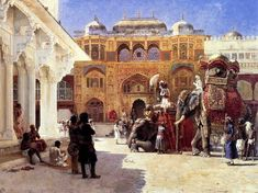The Maharajah at the Amer Fort, 1888 Edwin Lord Weeks - http://hoocher.com/Edwin_Lord_Weeks/Edwin_Lord_Weeks.htm The Rajah At The Palace Of Amber