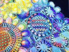 """Paraguayan lace, Encaje paraguaya, """"Ñandut'i""""  -Elena Iwatani's Blog- http://blog.livedoor.jp/nandy_elena/"""
