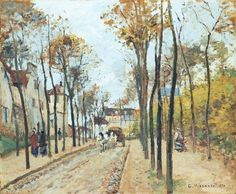 """""""The Boulevard des Fosses, Pontoise"""",c.1872 by Camille Pissarro (French,1830-1903)"""