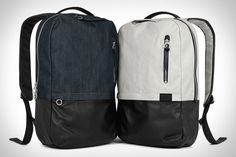 These backpacks from Beams (from Tokyo) are absolutely suitable for use with business attire.