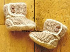 PDF Baby Boots Crochet Pattern