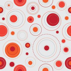 Red Dots Background Vector Graphic