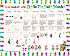FREE Elf on the Shelf Printable Calendar.  I just love this for my kids and it's so easy to follow with this printable calendar!