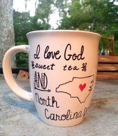 I Love God Sweet Tea and North Carolina by PaintedCollections