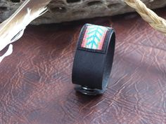 Native American Beaded Herringbone Leather Bracelet