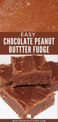 Easiest fudge ever? Easy Chocolate Peanut Butter Fudge that you can make in 15 minutes with no candy thermometer. Anybody can make this creamy, rich treat. #fudge #candymaking #easy #chocolate Christmas Recipes, Holiday Recipes, Christmas Fudge, Christmas Candy, Christmas Cookies, Delicious Recipes, Amazing Recipes, Yummy Food, Interesting Recipes
