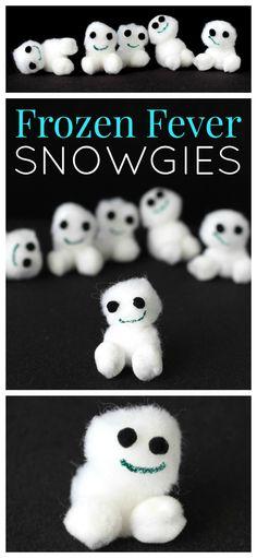Snowgies Kids Craft | A fun DIY Frozen Fever craft idea for your next Frozen party - Raising Whasians via @raisingwhasians