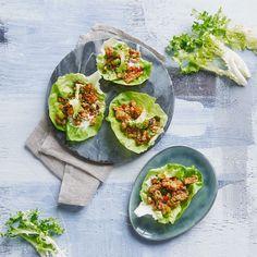 Salatwrap med spicy kylling - hakket kylling