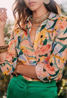 Work Fashion, Fashion Prints, Spring Fashion, Fashion Outfits, Womens Fashion, Look Formal, Estilo Hippie, Mode Inspiration, Parisian Style