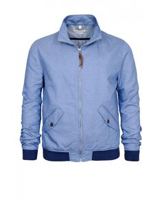 LEVIS MADE & CRAFTED - Blue denim jacket Bomber