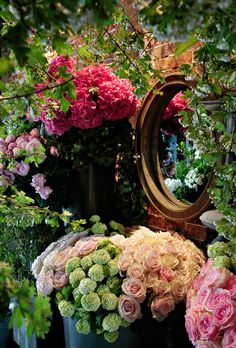Eric Chauvin's floral shop in Paris.