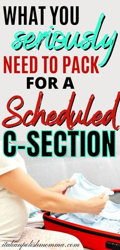 Packing for a c-section delivery? Here are must have items to pack in your c-section hospital bag! This is a realistic packing list from a mom that had 4 c-sections and tells you what you seriously need! #csectionhospitalbag #scheduledcsection #pregnancy Csection Hospital Bag, Scheduled C Section, Delivery Hospital Bag, Packing Hospital Bag, Hospital Bag For Mom To Be, Baby On A Budget, Pregnancy Information, Baby Must Haves, Babies First Year