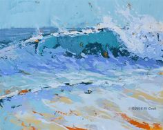 Sea Colors, Oil on panel. Inspiration for this original oil painting is from my frequent walks on the beach. It can be similar to meditation.