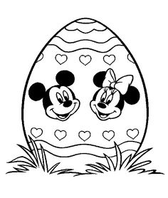 EASTER COLOURING: DISNEY EASTER EGG COLOURING PICTURE